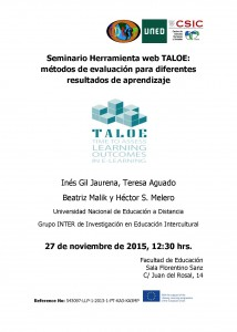 CARTEL Seminario uned TALOE Def